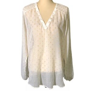 Maurices Sheer Long Sleeve Blouse